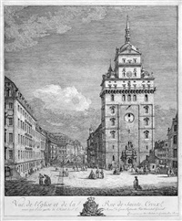 vue de l'eglise et de la rue de sainte croix ... (ansicht der kreuzkirche in dresden) by bernardo bellotto
