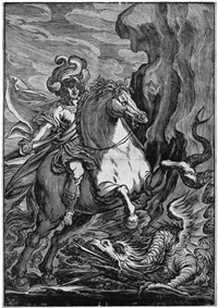 der hl. georg im kampf mit dem drachen (after pordenone) by giuseppe scolari