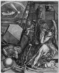 melancholia (after dürer) by hieronymus wierix