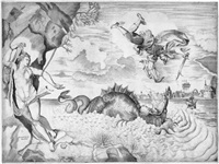 perseus und andromeda (after titian vecellio) by giulio sanuto