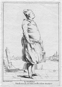 le gondolier, pl. 7 (from divers portraits gravés à l'eau-forte...) by giovanni david