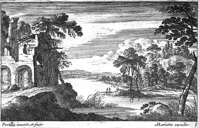 landschaften mit ruinen und bauwerken 6 works by gabriel perelle