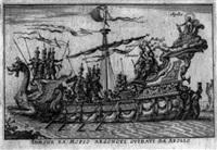 le magnifique carousel fait sur le fleuve de l'arne à florence pour le mariage du grand duc... by baltazar moncornet