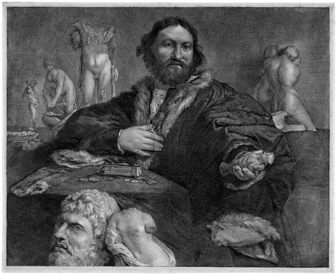 bildnis des kunstsammlers andrea odoni after lorenzo lotto by cornelis visscher