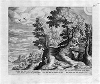 die landschaft mit dem tod und amor (+ another; 2 works) (after mathys bril) by jan sadeler i