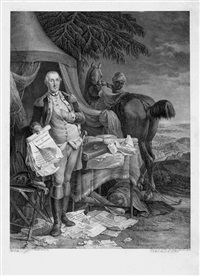 bildnis des george washington (after jean baptiste lepaone) by noël le mire