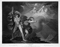 die drei hexen prophezeien macbeth und banquo die zukunft (by j. caldwall) by johann-rudolf (hans-rudolf) füssli