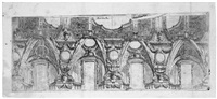 barocker deckenentwurf (after angelo michele colonna) by carlo antonio buffagnotti