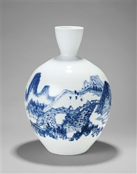 雨后青山秀 (mountains after rain, a vase) by xia mo
