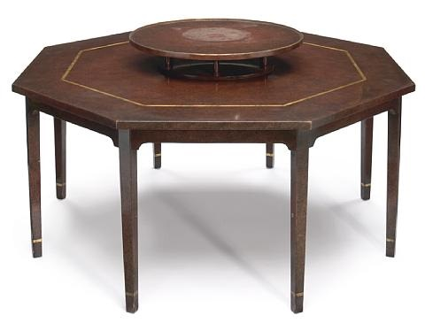 Octagonal dining table with lazy Susan by William (Billy ...