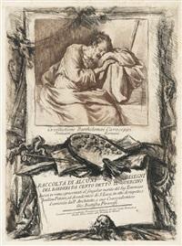 und francesco piranesi (1758/9 rom - paris), giacomo nevay (1730 - 1811). raccolta di alcuni disegni del barberi da cento, detto il guercino (22 works of 28) by francesco bartolozzi