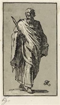 die apostel jakob d. j. (+ bartholomäus; 2 works) by antonio maria zanetti