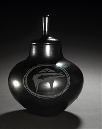 lidded jar by tony da
