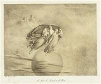 la nuit, le someil et la mort, pl. 38 (from mes leçons de mythologie) by maria electrina von freyberg