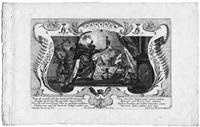 litis abusus - vorbildungen von mißbrauchs des rechten (portfolio of 8 w/title pg.; by johann georg merz) by gottfried bernhard goetz