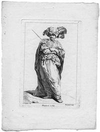 receuil de differentes charges dessignée a rome par carlo vanloo peintre du roy(portfolio of 12) by simon-francois ravenet and jacques-philippe le bas