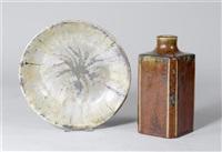 vase und platte (2 works) by émile decoeur