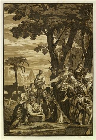 die auffindung des moses der bethlehemitische jindermord 2 works by john baptist jackson