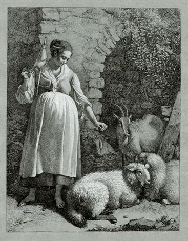 die folge der 6 pastoralen ohne nummern im hochformat 6 works by francesco londonio