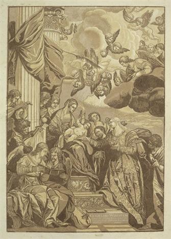 die mystische vermählung der hl katharina after paolo veronese by john baptist jackson