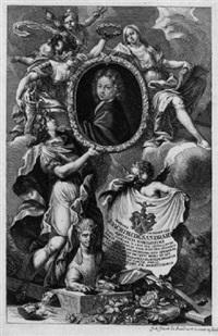 bildnis joachim von sandrart d.j. begleitet von allegorien by johann jacob von sandrart