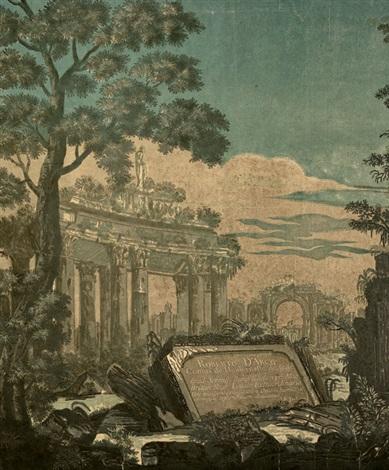 heroische landschaft mit antiken ruinen after marco ricci by john baptist jackson