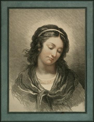 brustbildnis eines jungen mädchens after françois andré vincent by gilles antoine demarteau