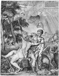 venus und adonis (after tizian) by giulio sanuto
