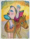 le départ sur le chameau by lotti van de gaag