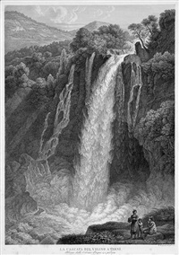 der wasserfall des velino bei terni by friedrich wilhelm gmelin