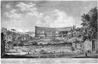 veduta dell'anfiteatro flavio oggidi colosseo osservato del celio, pl. 7 (from vue et monuments de rome) by giovanni volpato