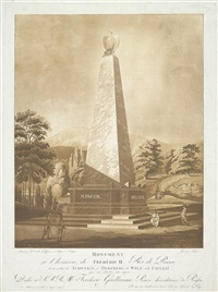 monument à l'honneur de frédéric ii, roi de prusse (after johann heinrich dannecker) by johann thomas hauer