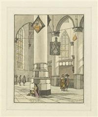 das innere einer kirche (from pieter saenredam) by cornelis (jacob c.) ploos van amstel