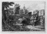 die brücke über den görlitzer stadtgraben mit der frauenkirche im hintergrund by christoph nathe