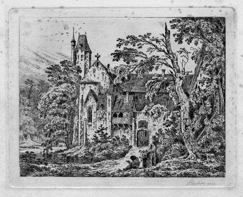 kloster im walde by karl blechen