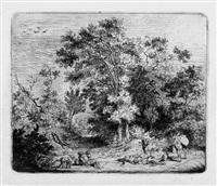 landschaft mit hirt und herde by friedrich (maler müller) müller