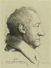 bildnis johann wolfgang von goethe im profil (after ferdinand jagemann) by elizabeth pfenninger