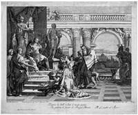 maecenas empfiehlt die bildenden künste dem schutz kaiser augustus (after giovanni battista tiepolo) by jacopo leonardis