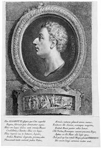 bildnis franz graf algarotti; bildnis felice salimbeni (2 works) by georg friedrich schmidt