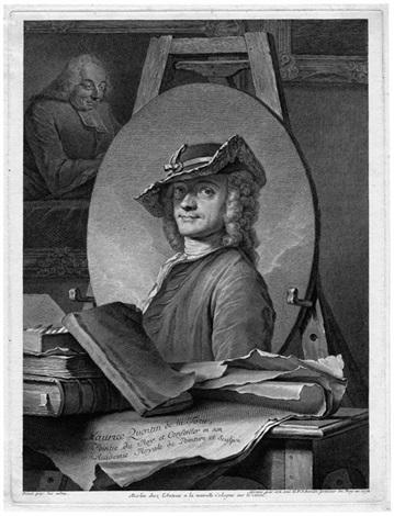 porträt des malers maurice quentin de la tour (after de la tour) by georg friedrich schmidt
