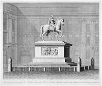reiterstandbild von kaiser joseph ii. auf dem josefsplatz in wien, im hintergrund der redoutensaal (after franz anton zauner) by jakob merz