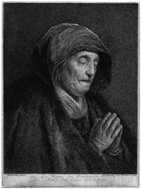rembrandts mutter (after rembrandt) by georg friedrich schmidt