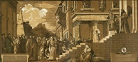 der tempelgang mariens (after titian) by john baptist jackson