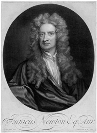 bildnis sir isaac newtons (after sir godfrey kneller) by john smith