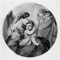 maria, sitzend mit dem jesusknaben (+ 6 others; 7 works) by maria electrina von freyberg