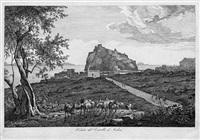 veduta del castello d'ischia (from italienischen ansichten) by florian grospietsch