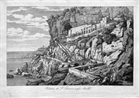 veduta di s. francesco presso amalfi (from italienischen ansichten) by florian grospietsch