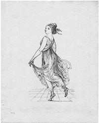 die tänzerin vigano by gottfried (johann gottfried) schadow