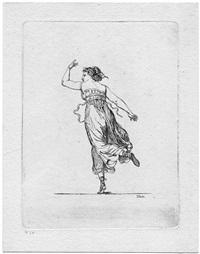 die tänzerin vigano, von hinten by gottfried (johann gottfried) schadow