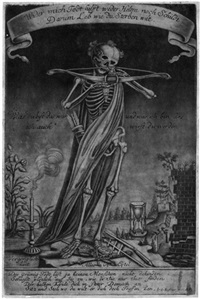allegorie der vergänglichkeit (wider mich todt hilfft weder helem noch schildt ...) by johann christoph hafner